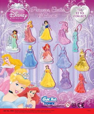 迪士尼公主魅力城堡水晶吊饰