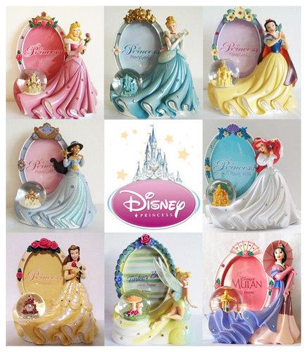 乐园限定迪士尼公主城堡水晶球相框