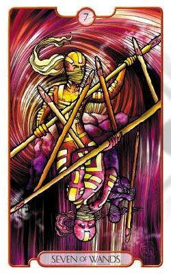 这副天启塔罗牌,在一张牌面上巧妙的将正,逆位的精神藉由一个角色清楚