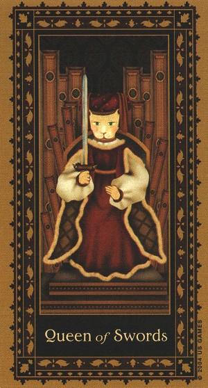 这副古典猫咪塔罗牌,用了一种现代的新手法来诠释中古世纪的风格!
