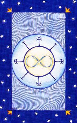魔法塔罗牌中,加入了相当多跟魔法有关的元素和符号