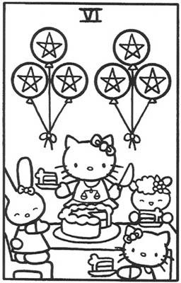 简笔画凯蒂猫画画的步骤